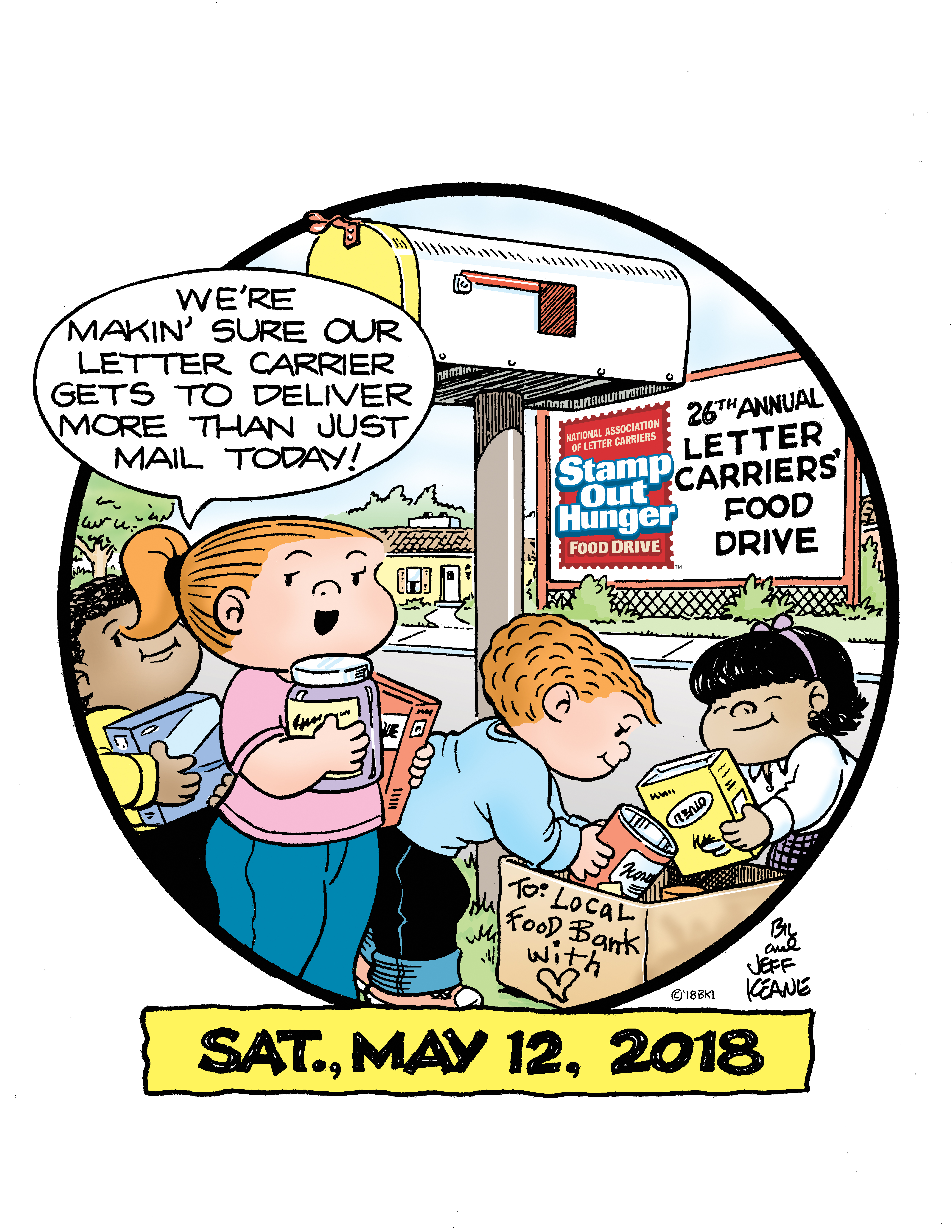 Food Drive Mail Carrier