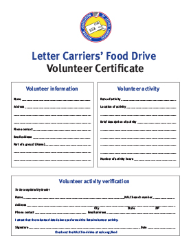 Verification Of Volunteer Hours Letter from www.nalc.org