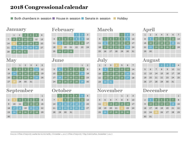 Congress releases 2018 calendar | National Association of Letter
