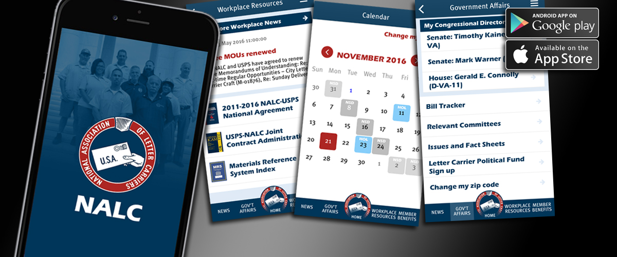 NALC Member App | National Association of Letter Carriers AFL CIO