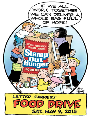 23rd annual Letter Carriers' Food Drive: Saturday, May 9