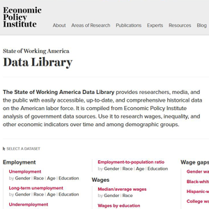 State of Working America Data Library