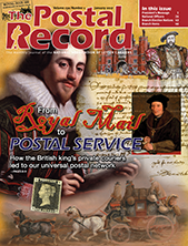 January 2017 Postal Record Cover
