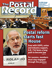 March 2017 Postal Record cover