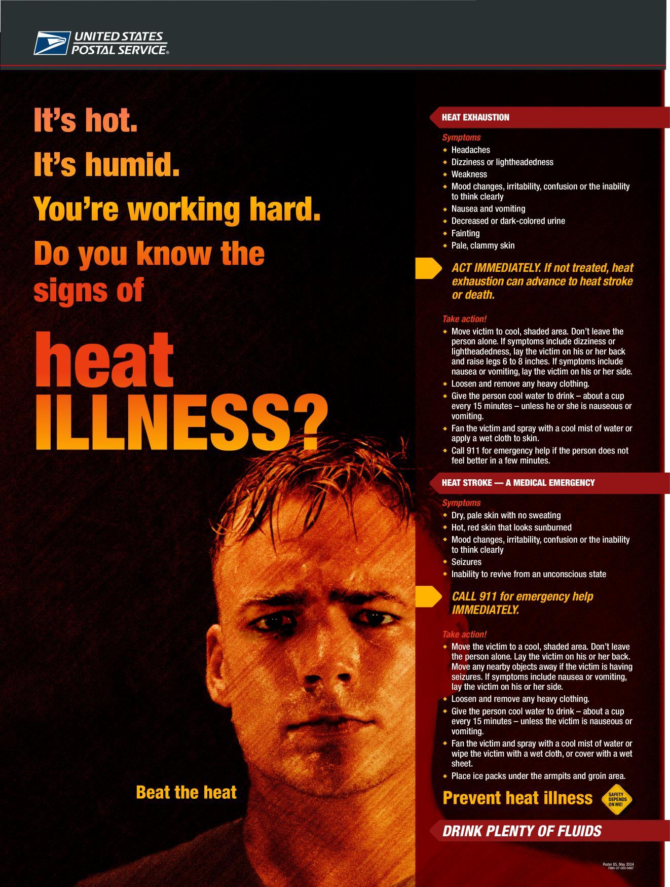 Heat Illness Prevention Handout Poisk Po Kartinkam Red