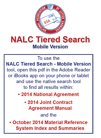 Nalc Tiered Search National Association Of Letter Carriers Afl Cio