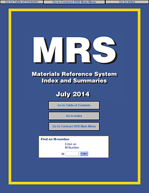 Materials Reference System (MRS) | National Association of